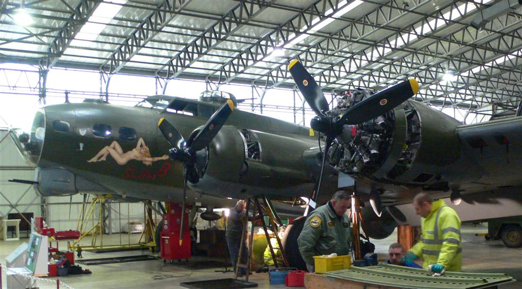 Sally B, complete with 4 engines! Photo credit B-17 Preservation